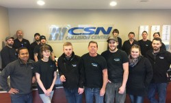 The team at CSN-Keizer's Collision. The facility is the first shop in Eastern Canada to receive CCIAP accreditation.